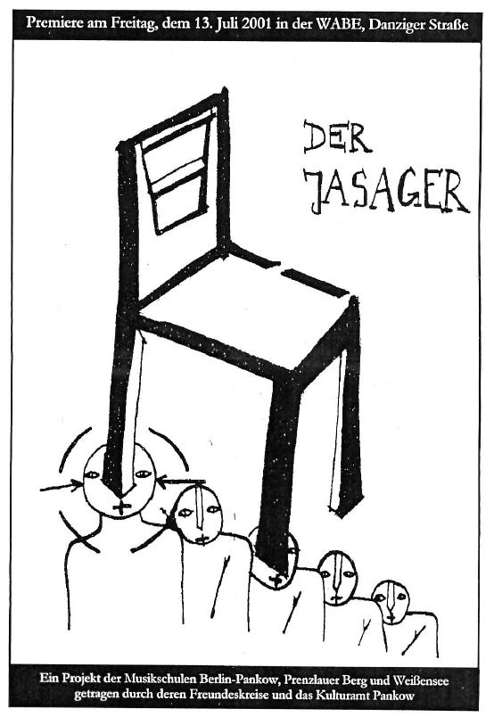Der Jasager – Ein Projekt der Musikschulen Pankow, Prenzlauer Berg und Weißensee