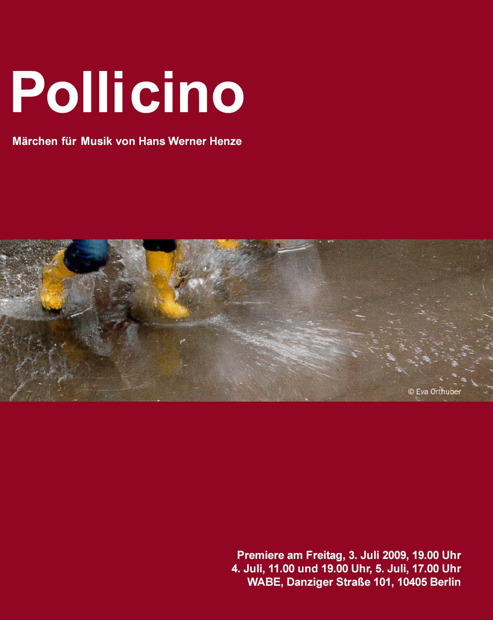 Pollicino – Märchen für Musik von Hans Werner Henze